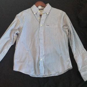 Abercrombie & Fitch Blue Striped Button Up